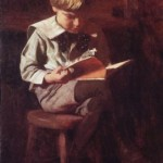 Boy Reading, by Thomas Pollack Anshutz.