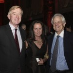 Bill Weld, Leslie Marshall, and guest