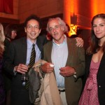 Elizabeth Gesas, Malcolm Gladwell, guest, and Minnie Mortimer