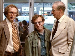 McLuhan, far left, in <em>Annie Hall</em>.