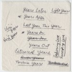 Document: Possible Titles for 'Light Years'