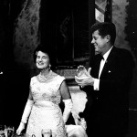 Rose Kennedy with President Kennedy.