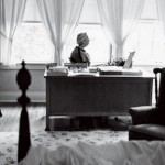 Eudora Welty at home.