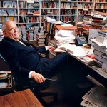 Robert Silvers in the New York Review offices.