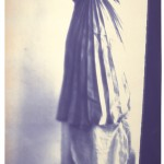 Francesca Woodman Caryatid, New York, 1980 Diazotype, 227.3 x 92.1 cm Courtesy George and Betty Woodman  © 2012 George and Betty Woodman