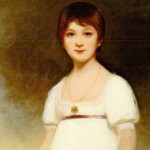 Reproduction of photo of the canvas depicting a young girl believed to be Jane Austen