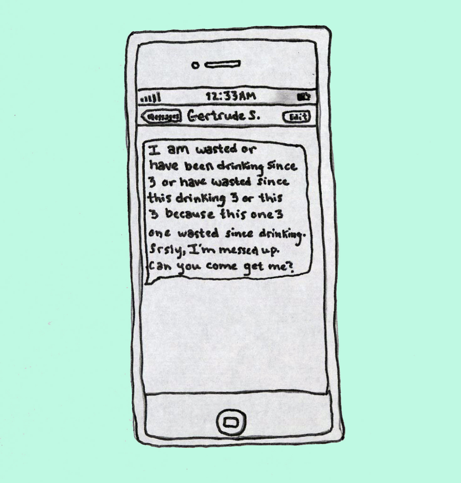Drunk Texts from Famous Authors