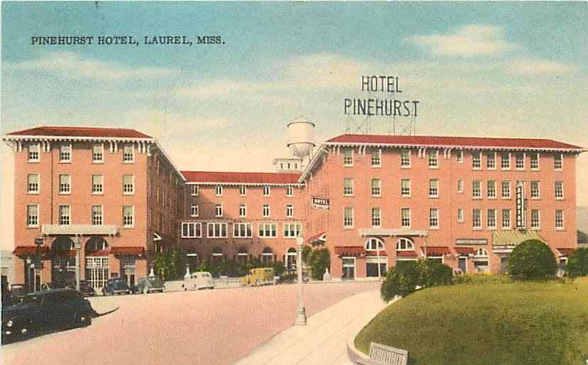 The Pinehurst Hotel, ca. 1940: the possible model for Tennessee Williams's Hotel Flamingo, where Blanche lived after she lost Belle Reve and before she moved to New Orleans.