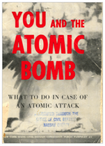 New York State pamphlet, You and The Atomic Bomb, 1950.