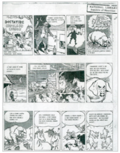 A page from the IRD cartoon version of Animal Farm.