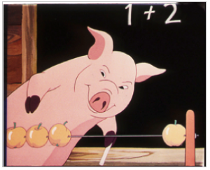 "Still from the film, ""Animal Farm,"" Halas & Batchelor, 1955."