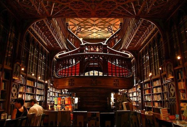 The Lello bookstore, Porto, Portugal,