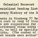 Celestial Homework, and Other News
