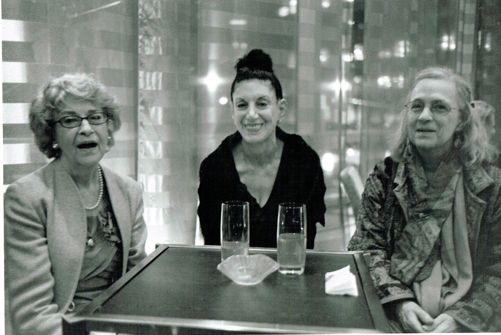 Adrienne Lubeau Winogrand, Judith Teller, and Eileen Adele Hale at the opening. Photo: Paul McDonough
