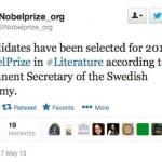 Nobel Tweets, and Other News