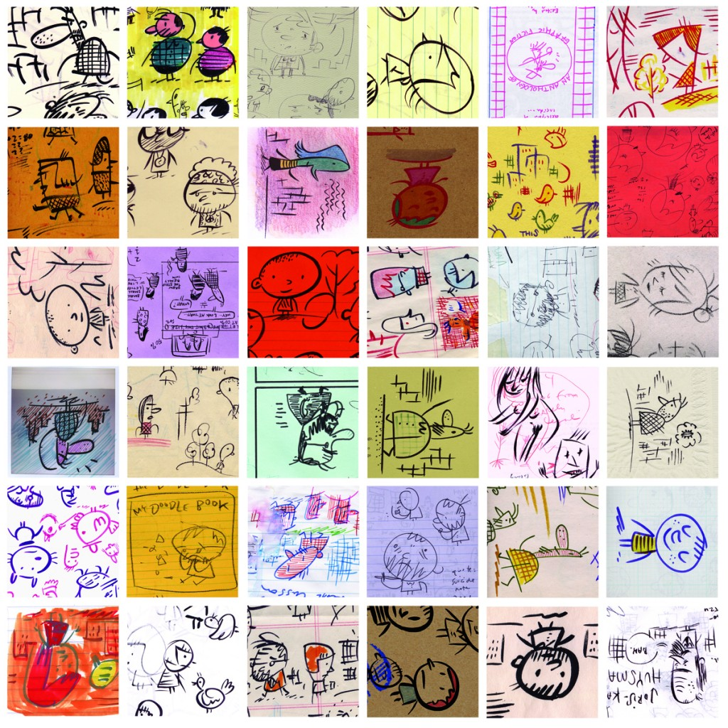 72 Doodles (detail, 1998–2005.