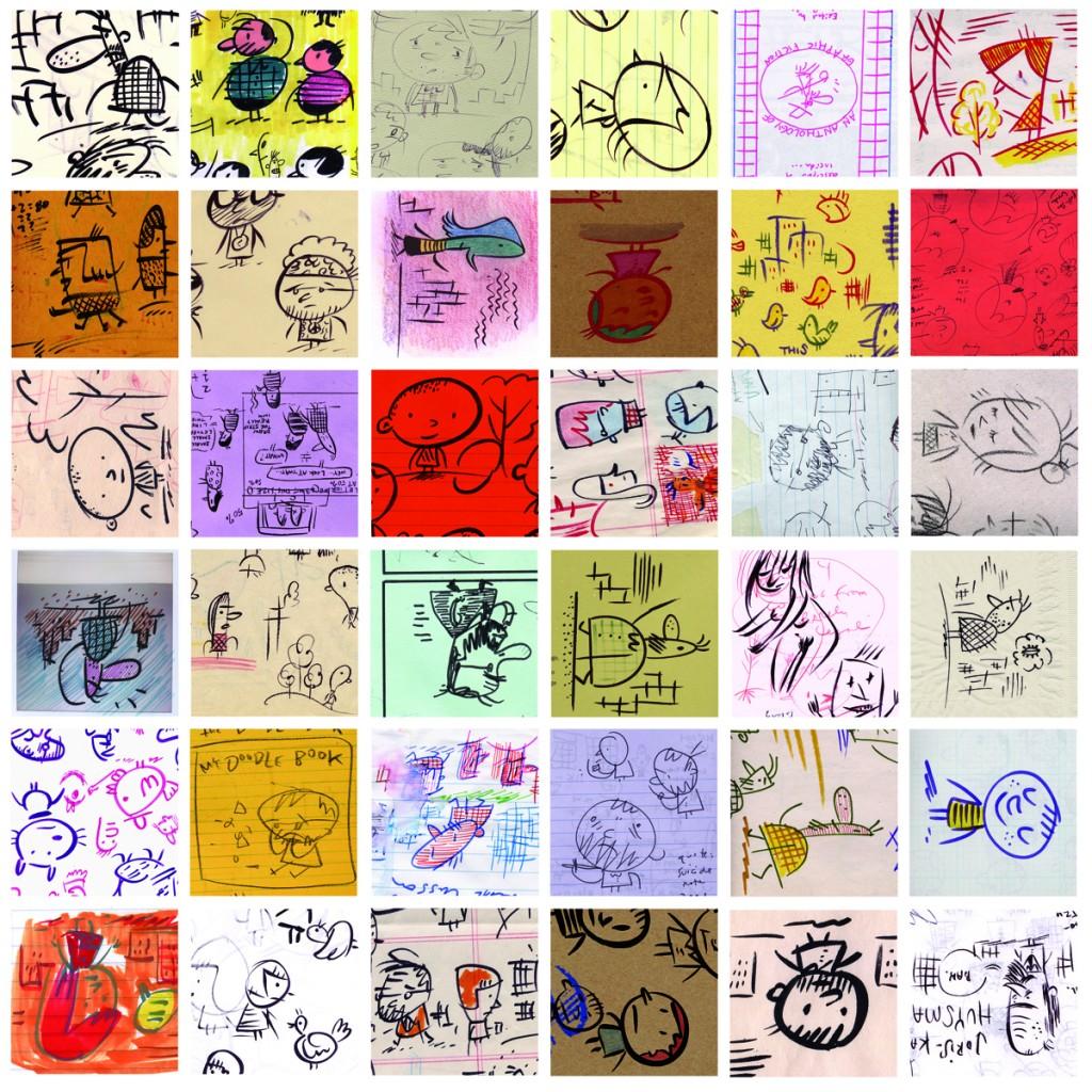 72 Doodles (detail, 1998–2005.