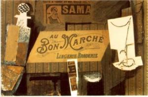 """Pablo Picasso. """"Au Bon Marche,"""" 1913"""
