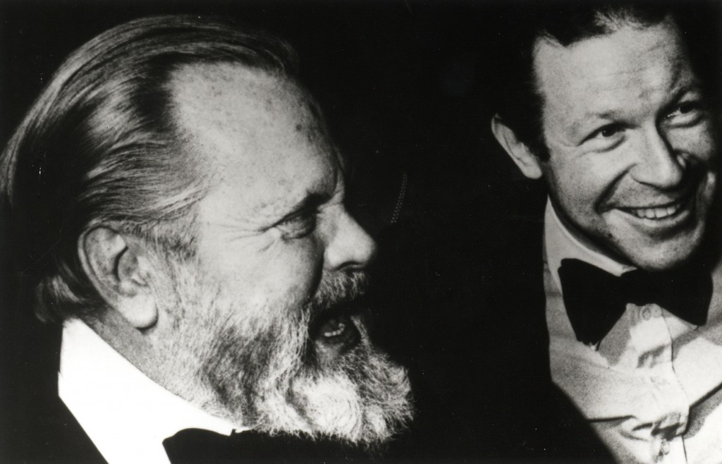 Henry Jaglom and Orson Welles. Courtesy of Rainbow Films