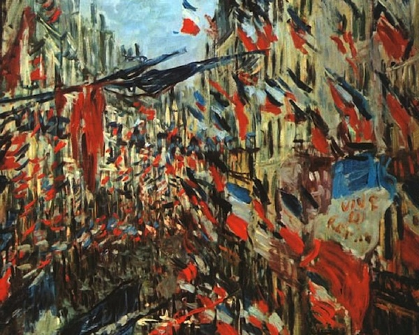 Claude Monet, Rue Montorgueil, Paris, Festival of 30 June 1878