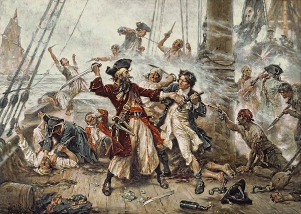 """The Capture of Blackbeard"" by Jean Leon Gerome Ferris"