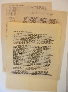 Memo drafts by Tennessee Williams to Irene Selznick and Elia Kazan, 1947