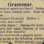 A 1912 Eighth-Grade Grammar Test: Predictably Demoralizing