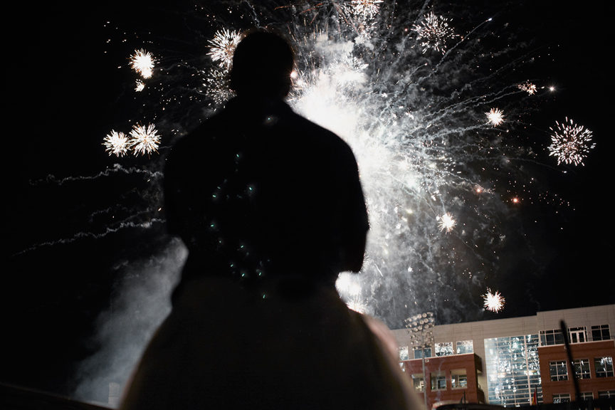 Fireworks over the Durham Bulls Athletic Park. Photo: Kate Joyce