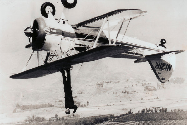 CalWorthington as a wing walker