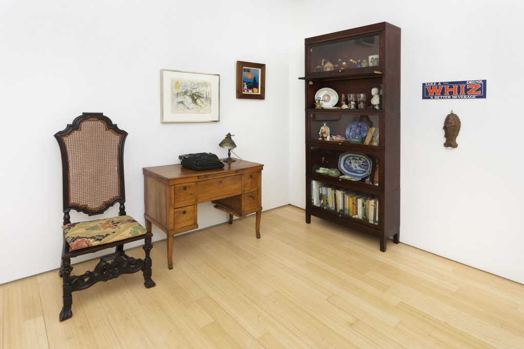 "Installation view of ""John Ashbery Collects: Poet Among Things."""