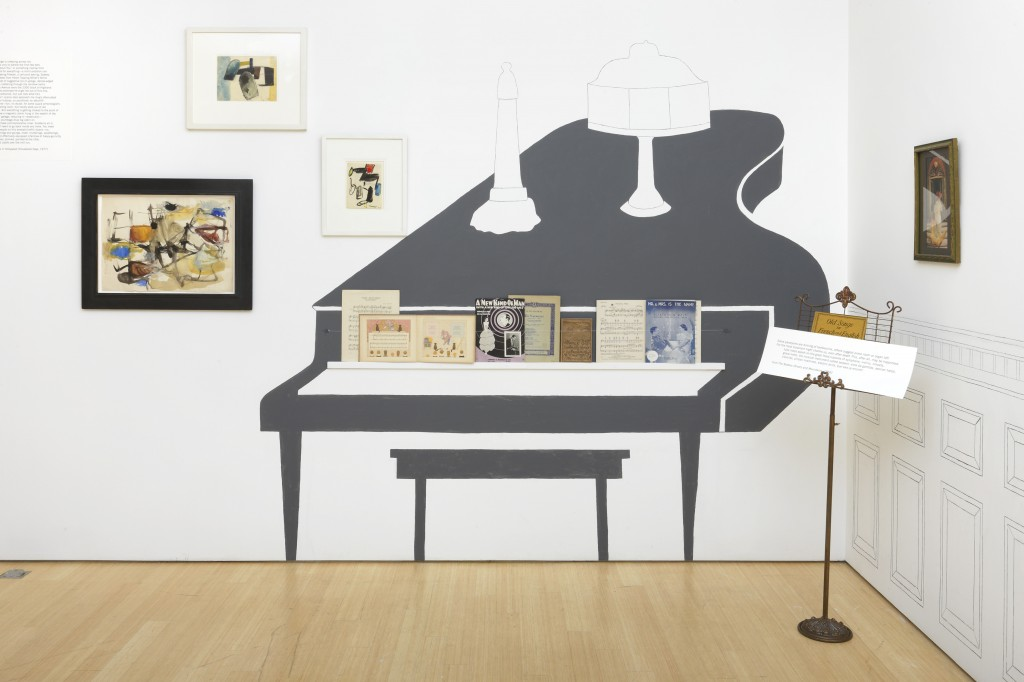 """Installation view of """"John Ashbery Collects: Poet Among Things."""""""