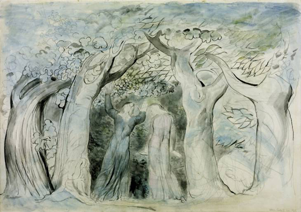 Dante and Virgil Penetrating the Forest 1824-7 by William Blake 1757-1827