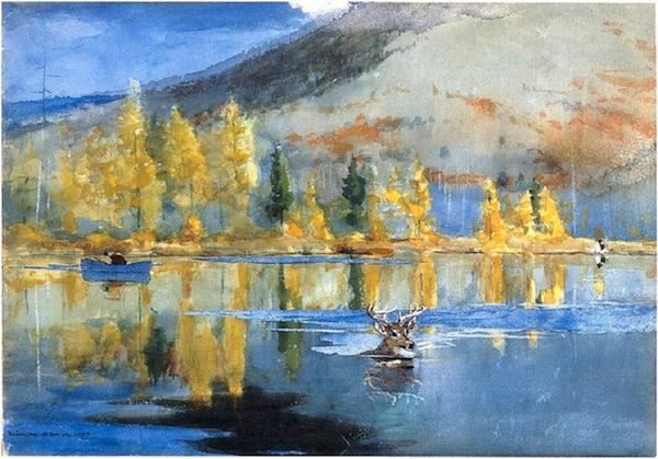 """Winslow Homer, """"An October Day."""""""