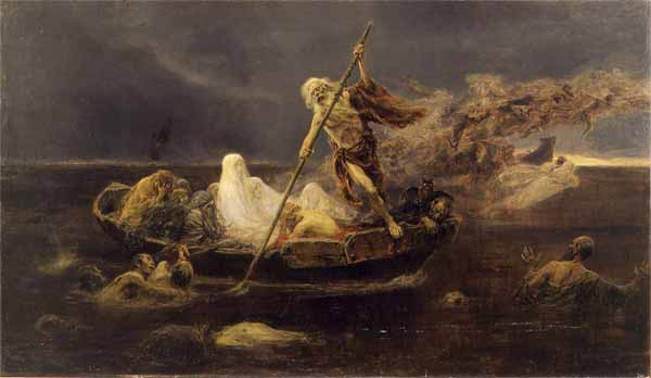 Charon Carries Souls Across the River Styx, Alexander Dmitrievich Litovchenko, 1861, Russian Museum, St. Petersburg
