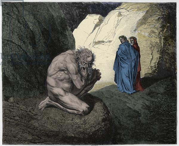 Virgil rebukes Plutus