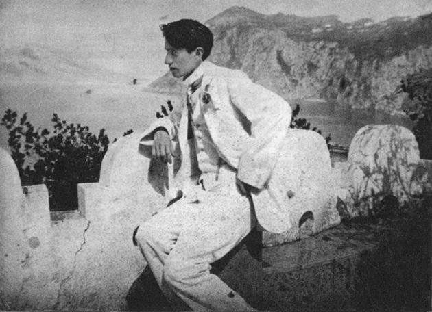 Sigizmund Krzhizhanovsky on holiday in Italy in 1912.