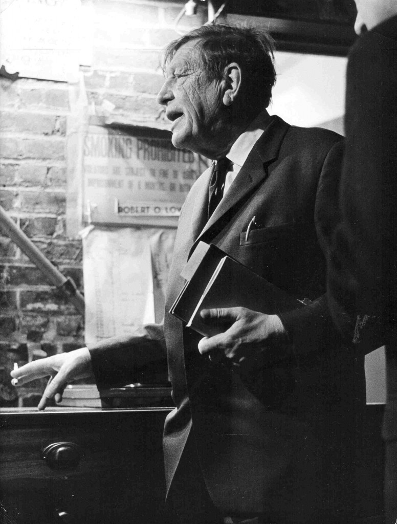 W.H. Auden at the Poetry Center, 1966. Photo: Diane Dorr-Dorynek, courtesy of 92Y Unterberg Poetry Center
