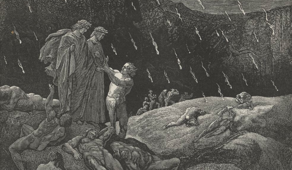a descent and observation of hell in dantes inferno by dante alighieri O vendetta di dio: is made a captive as a prefiguration of christ's descent into hell and bondage dantis or commentary on dante's inferno.