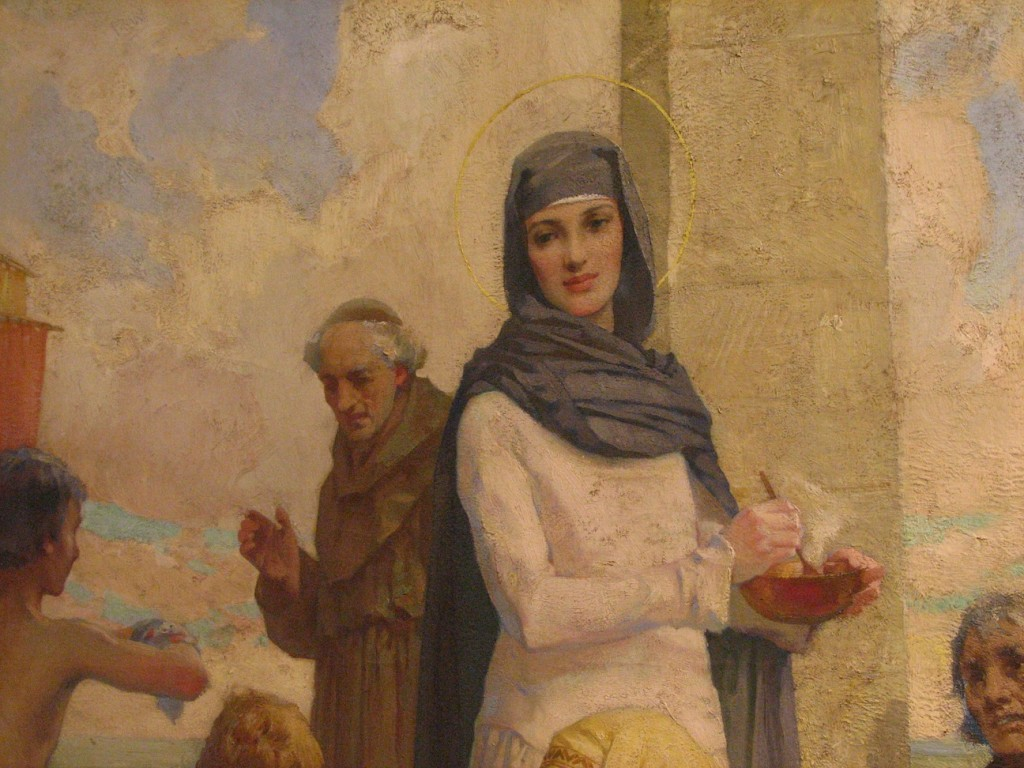 St._Hilda_at_Hartlepool_by_James_Clark_(Oil_Painting)