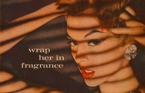 max factor primitif vintage perfume ad model jean patchett 1957