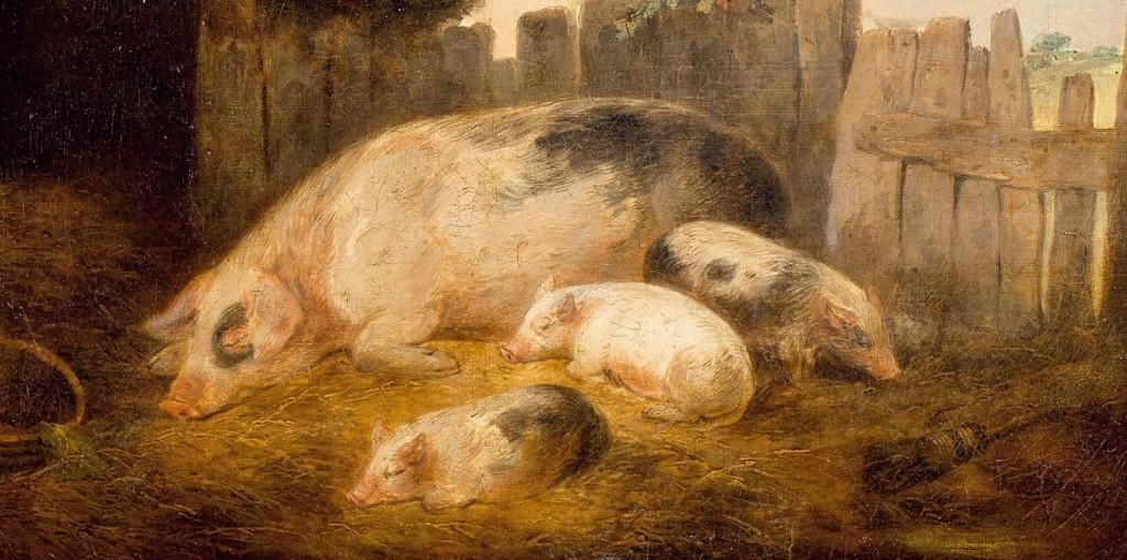 George_Morland_Vor_dem_Schweinestall_1793