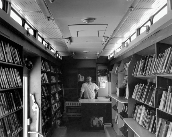 Bookmobile librarian, Baker, NV