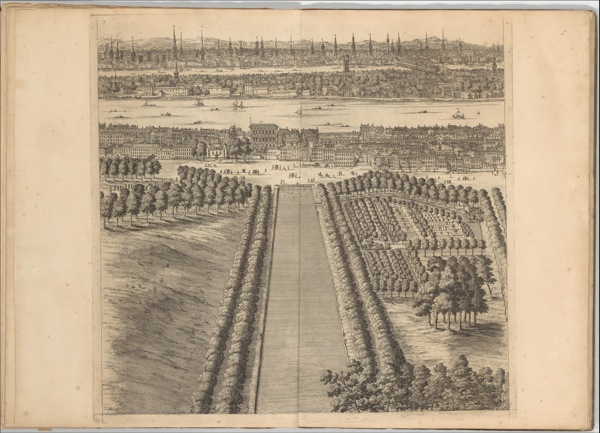 A Prospect of the City of London, Westminster and St James Park, Johannes Kip, 1710