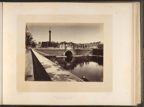 Alphone J Lie'bert Barracks Post, Place de la Bastille Canal Tunnel and July Column, 1871