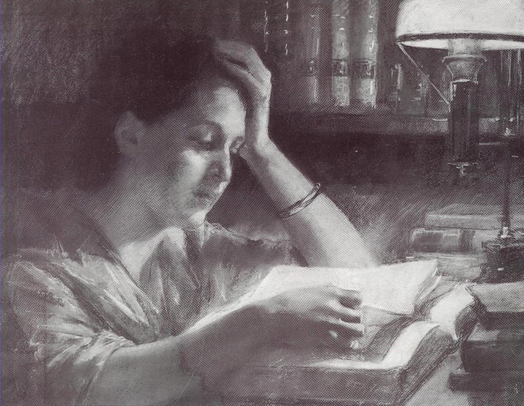 Edelfelt_Läsande_kvinna Reading Woman 1885