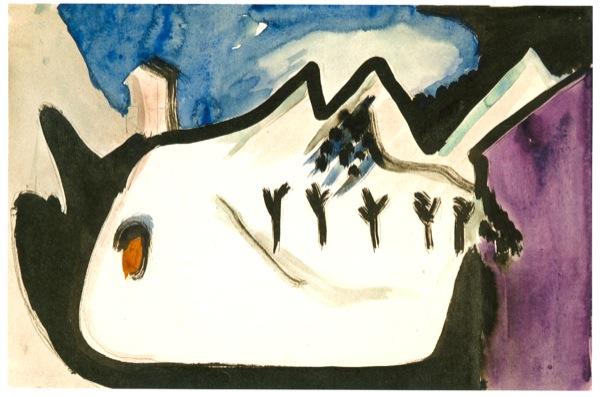 Ernst_Ludwig_Kirchner_-_Snowy landscape_-_1930