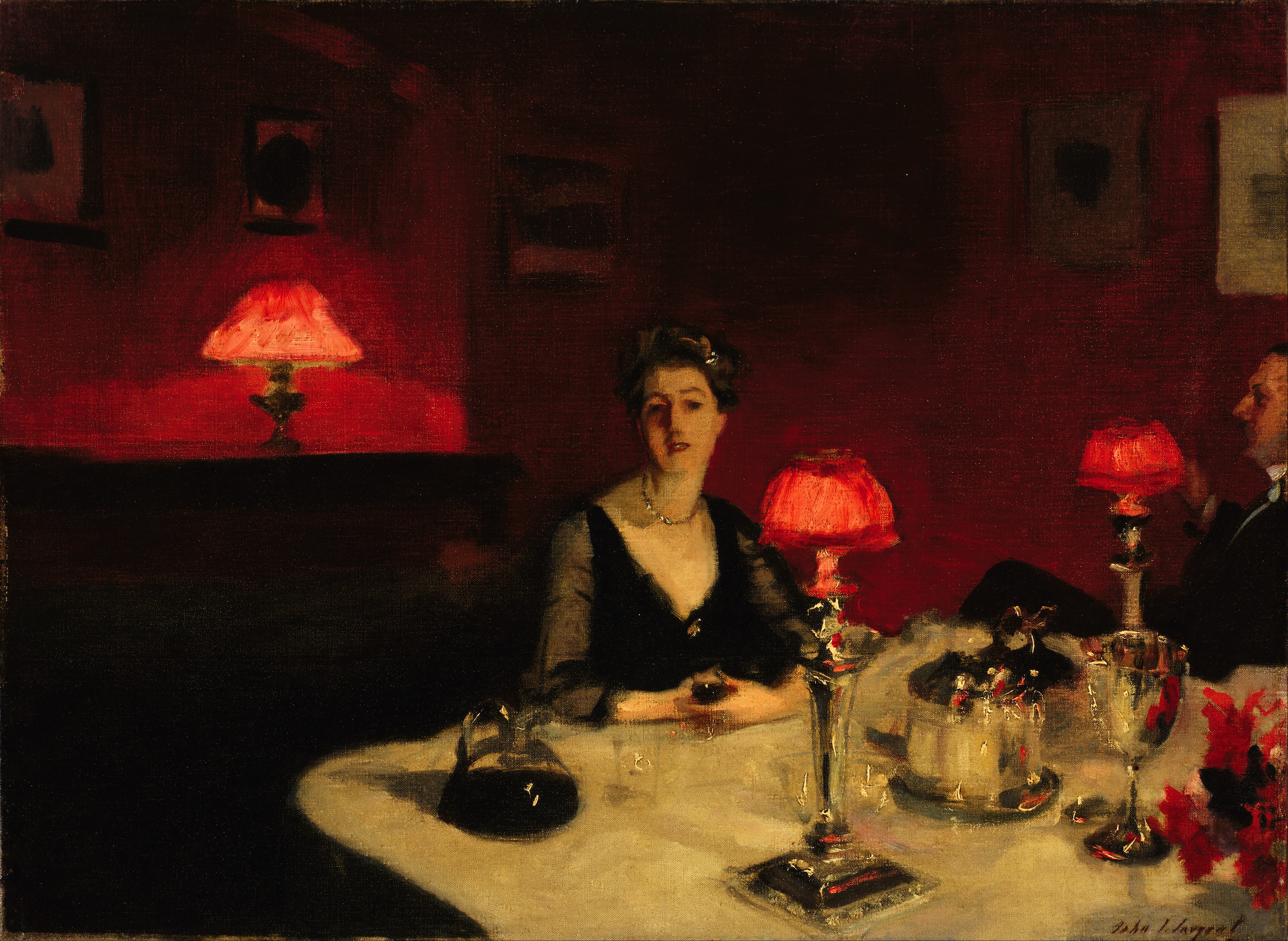 John_Singer_Sargent_-_Le_verre_de_porto_(A_Dinner_Table_at_Night)_-_Google_Art_Project