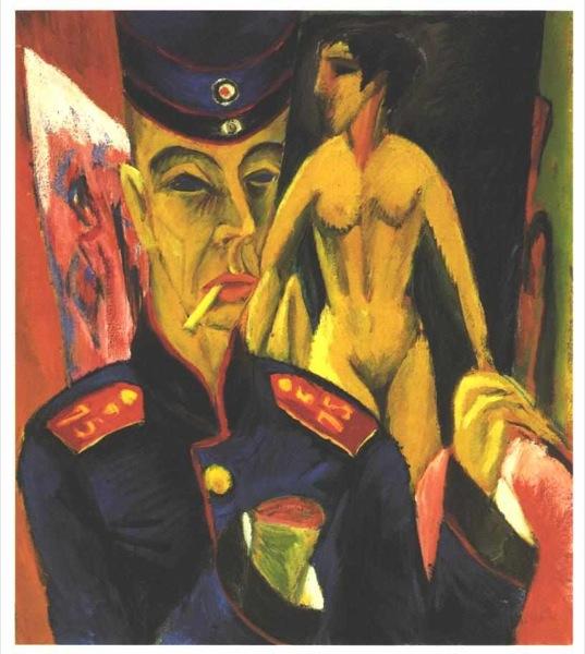 Kirchner_-_Selbstbildnis_als_Soldat 1915