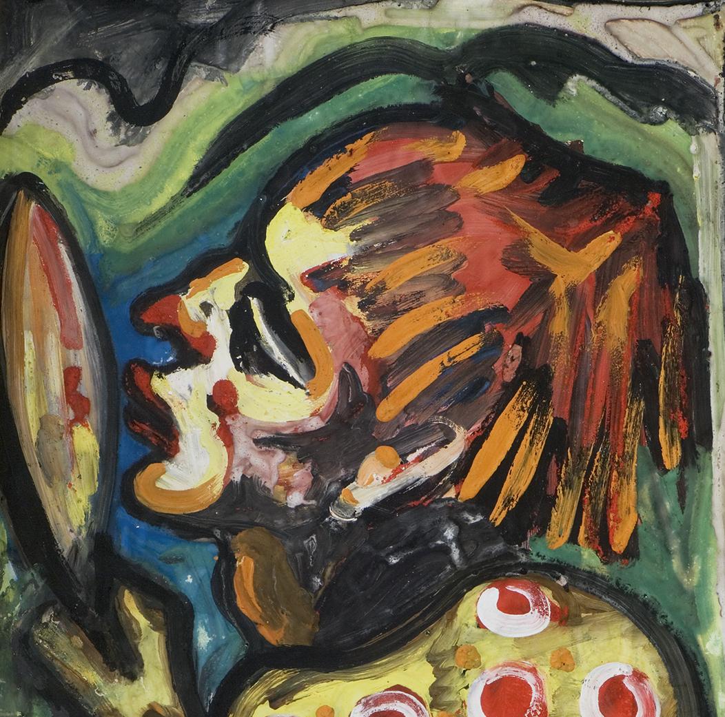 1948_Hans_Breinlinger_-_Clown_mit_Spiegel