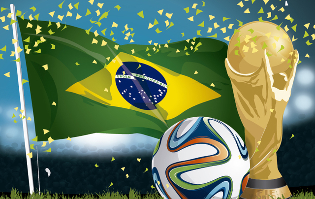 Brasil_2014_Football_Flag_and_Trophy